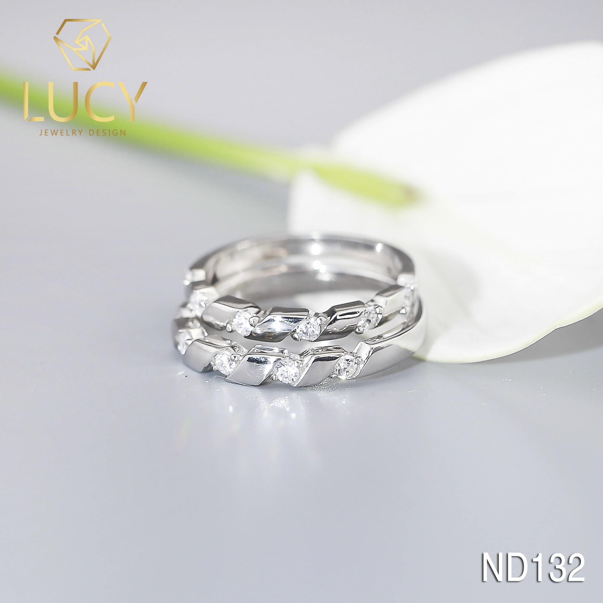 Nhẫn đôi nhẫn cặp bạc Lucy - ND132