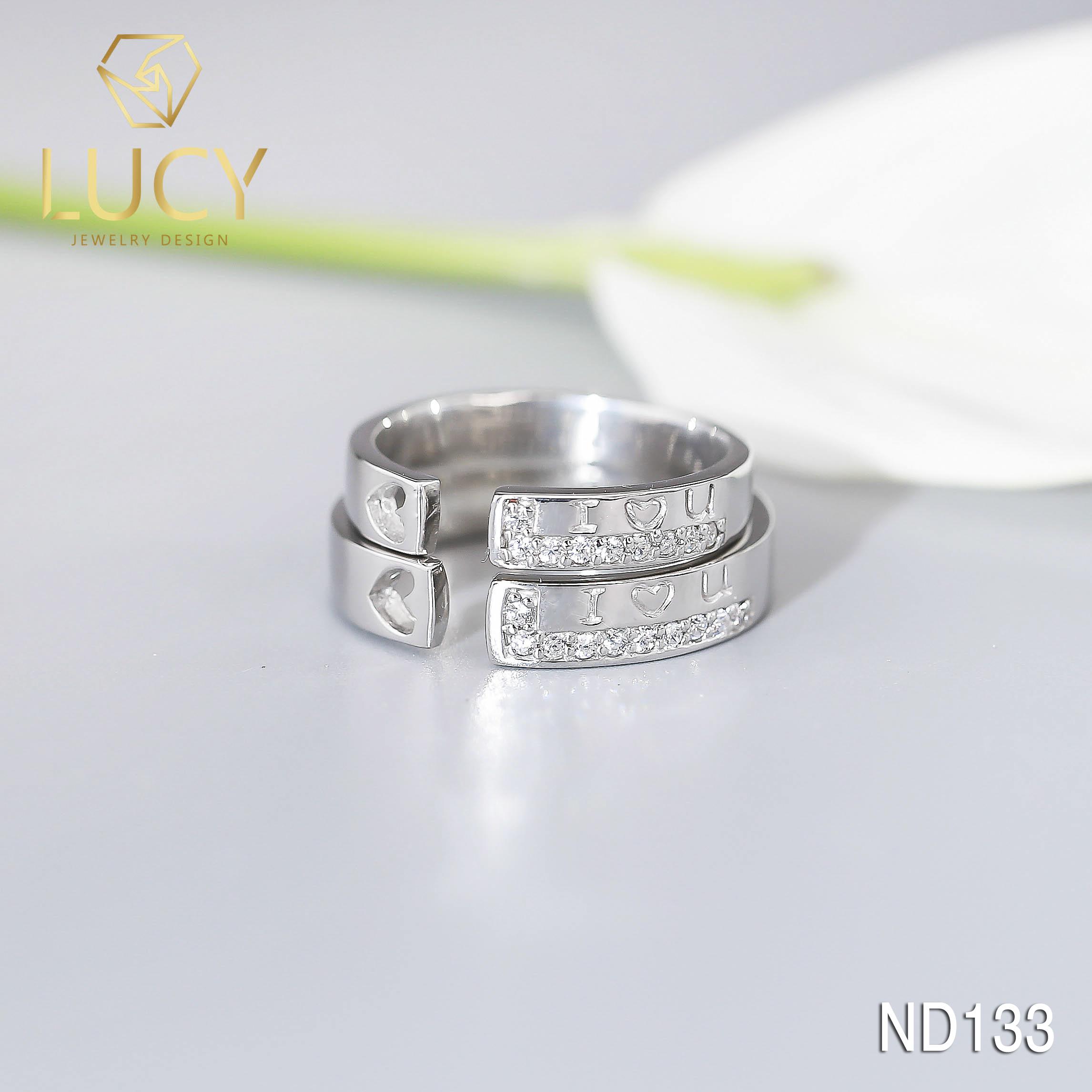 Nhẫn đôi nhẫn cặp bạc Lucy - ND133