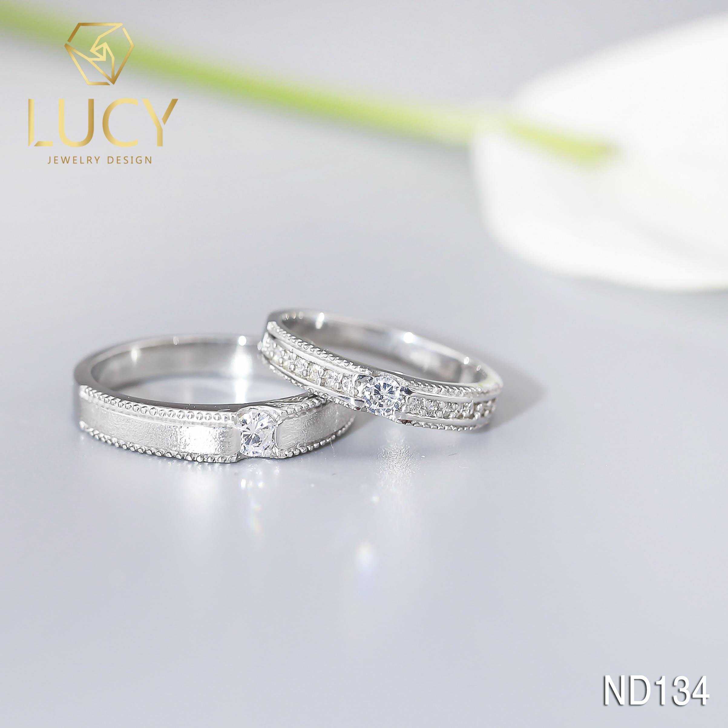 Nhẫn đôi nhẫn cặp bạc Lucy - ND134