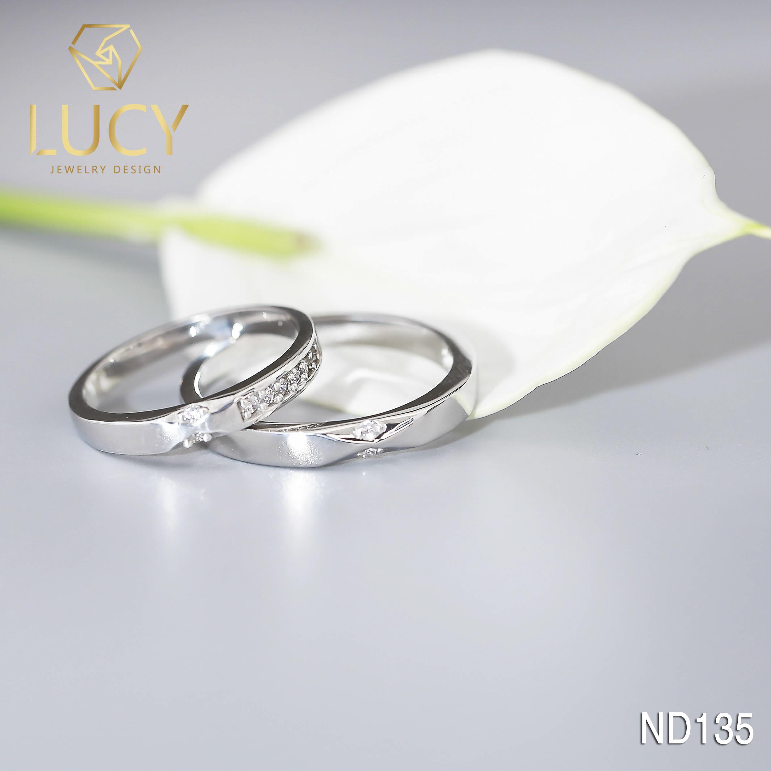 Nhẫn đôi nhẫn cặp bạc Lucy - ND135