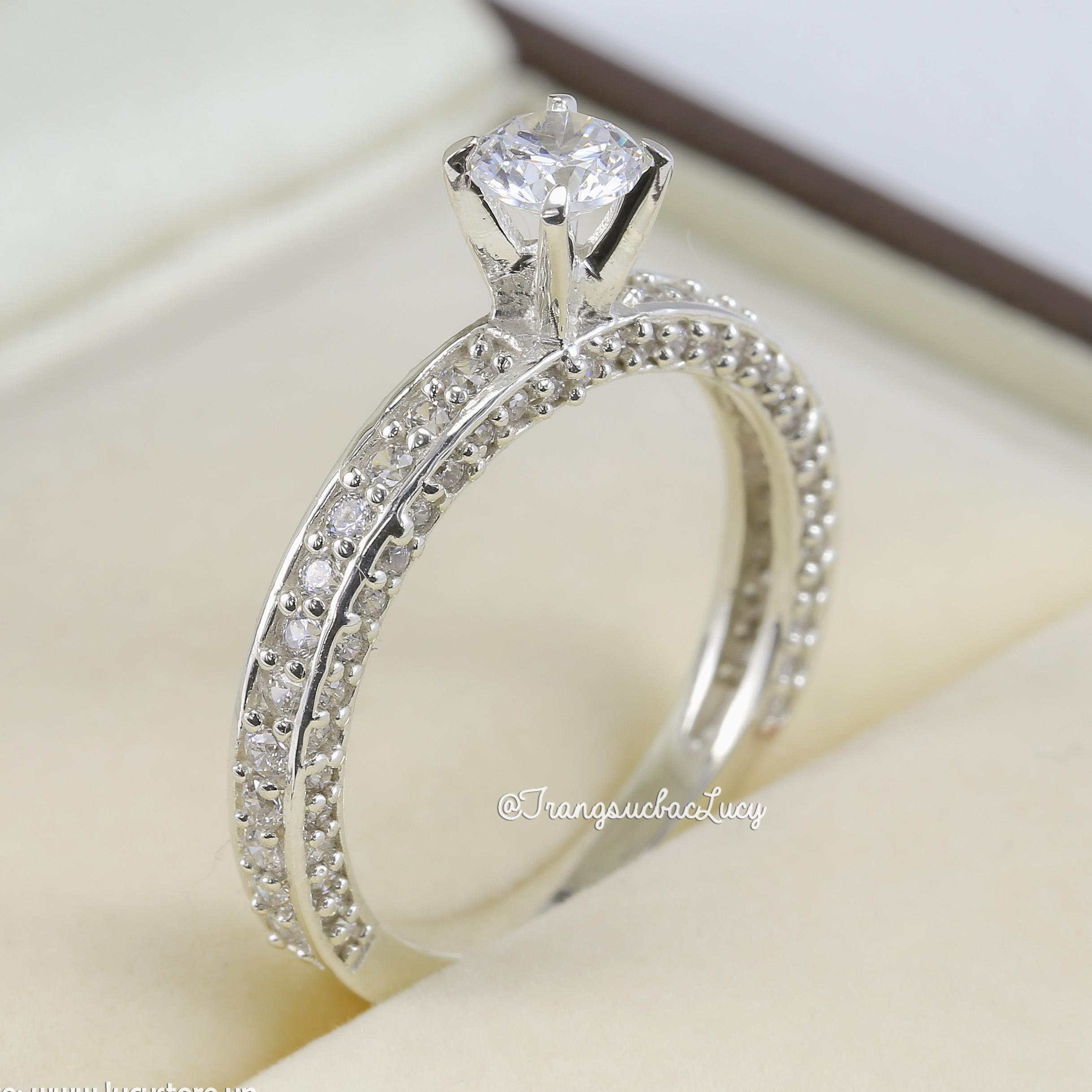Nhẫn bạc nữ đẹp - RW205
