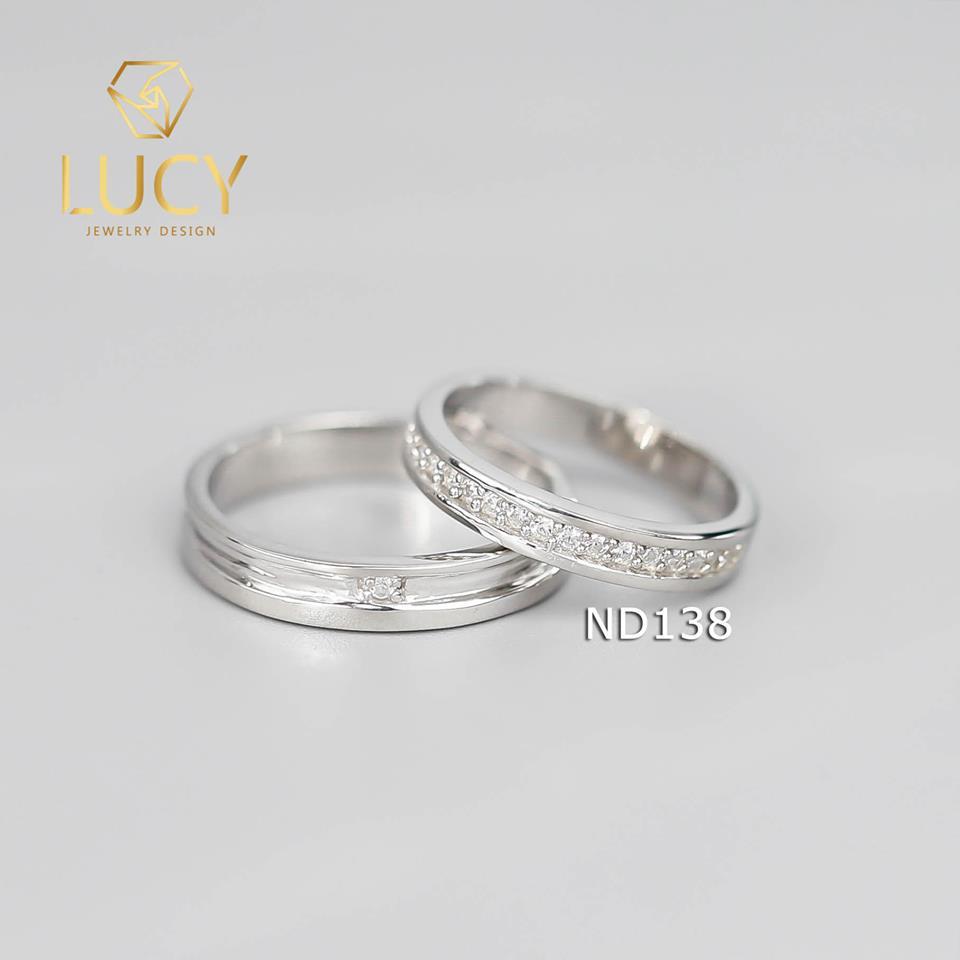 Nhẫn đôi nhẫn cặp bạc Lucy - ND138