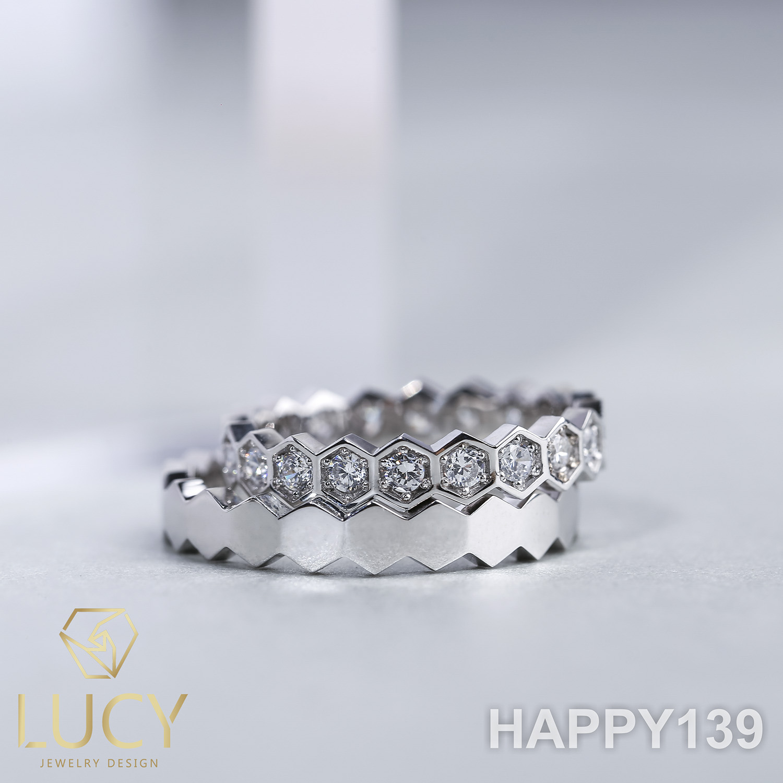 HAPPY139 Nhẫn cưới thiết kế, Nhẫn cưới cao cấp, Nhẫn cưới kim cương - Lucy Jewelry