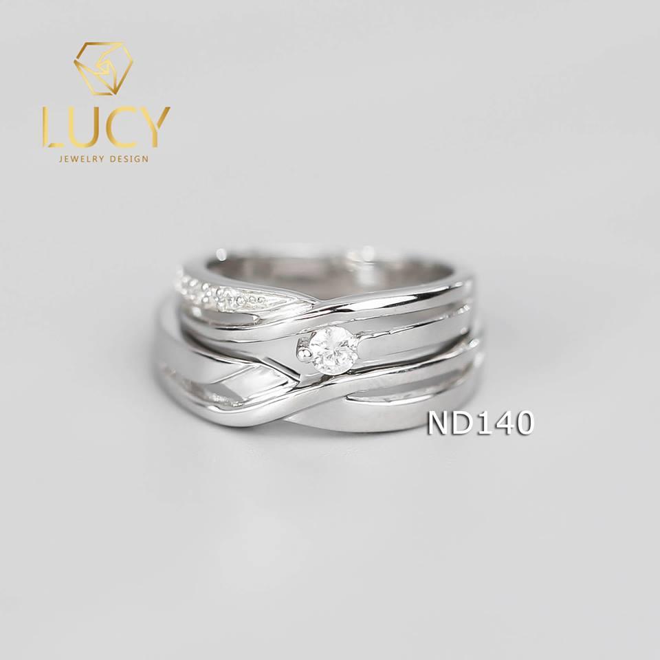 Nhẫn đôi nhẫn cặp bạc Lucy - ND140