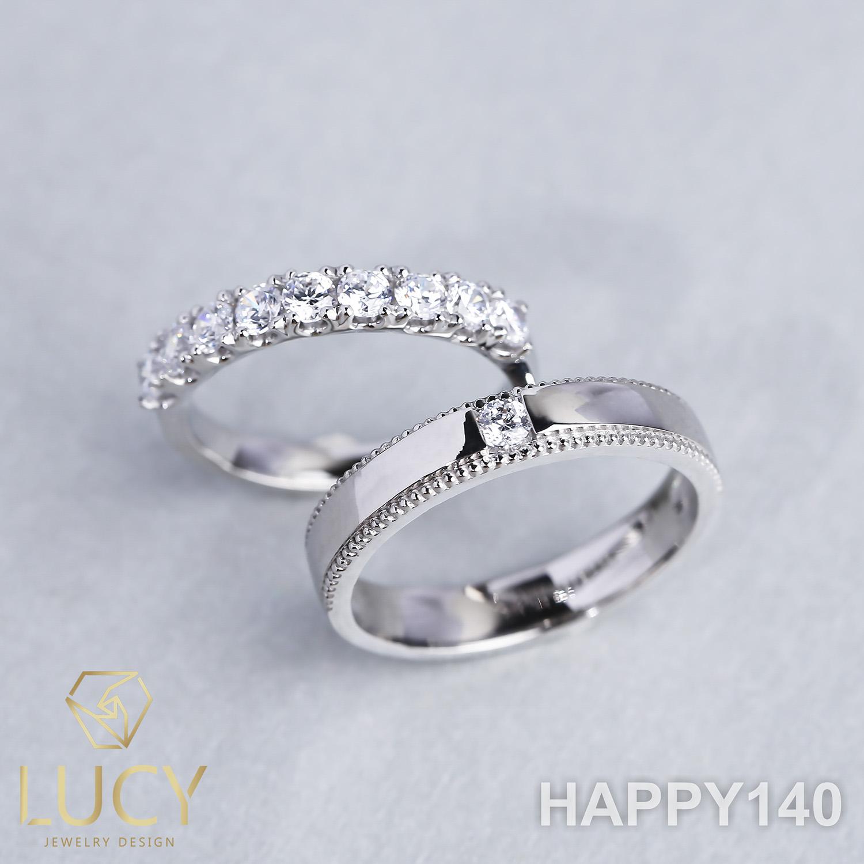 HAPPY140 Nhẫn cưới thiết kế, Nhẫn cưới cao cấp, Nhẫn cưới kim cương - Lucy Jewelry