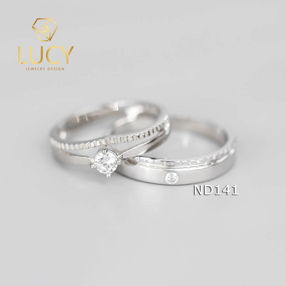 Nhẫn đôi nhẫn cặp bạc Lucy - ND141