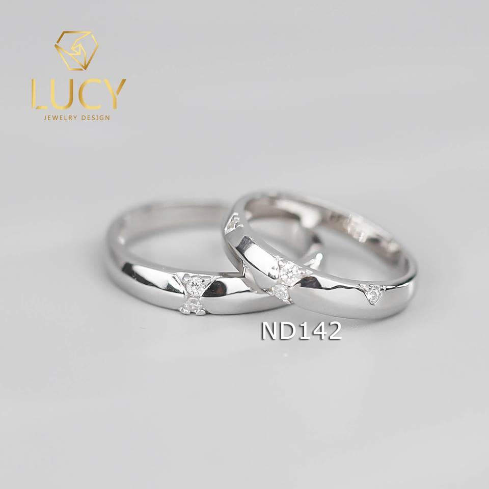 Nhẫn đôi nhẫn cặp bạc Lucy - ND142