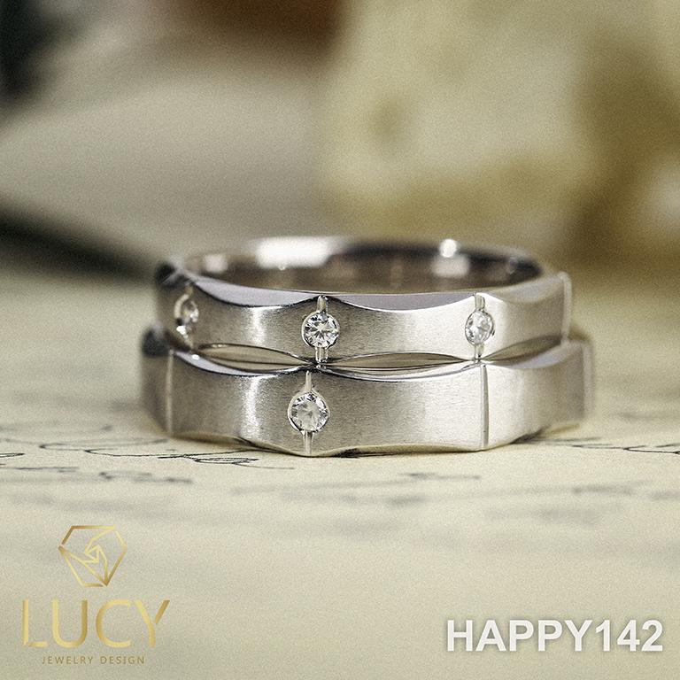 HAPPY142 Nhẫn cưới thiết kế, Nhẫn cưới đẹp, Nhẫn cưới kim cương - Lucy Jewelry