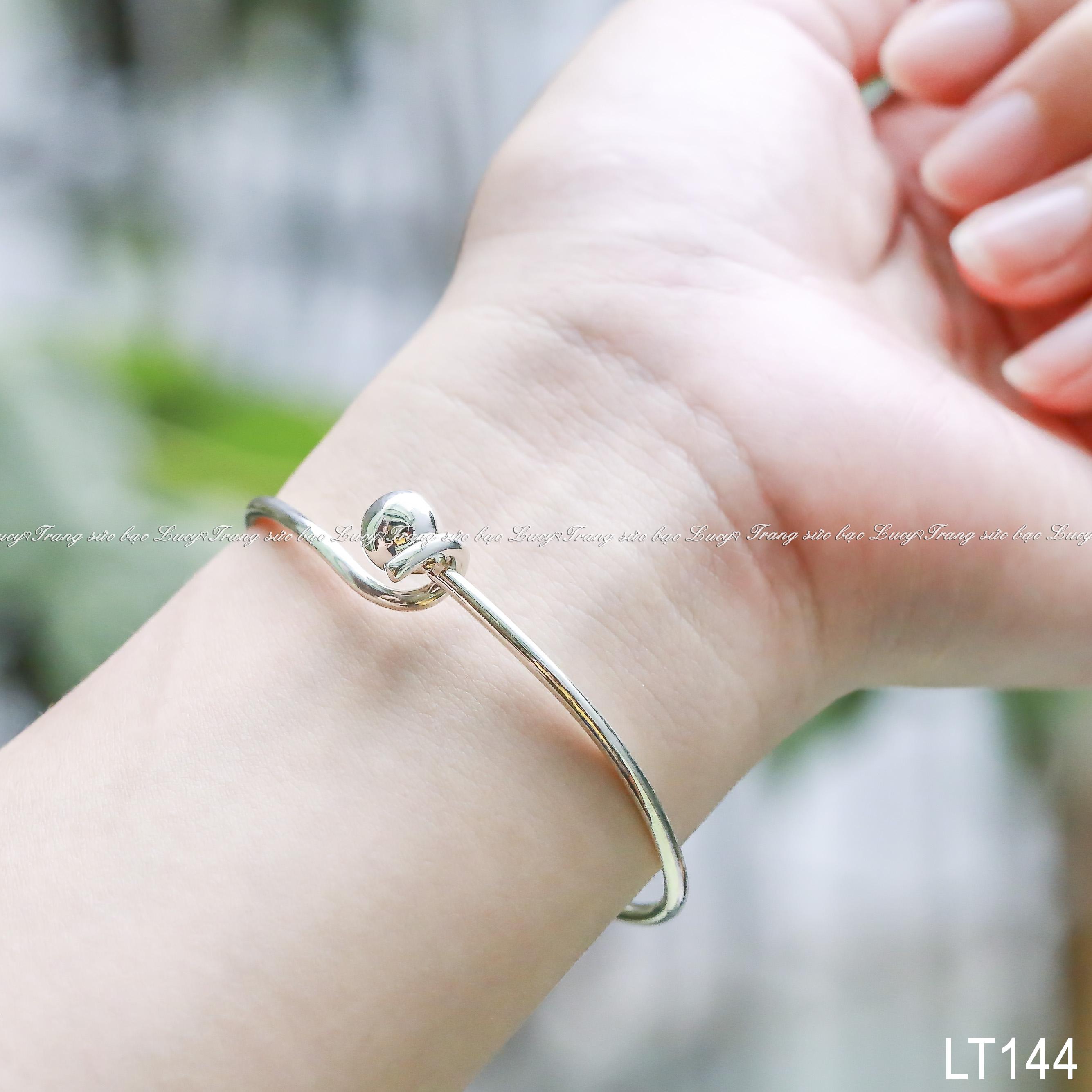 Lắc tay bạc lucy (vòng đặc) - LT144