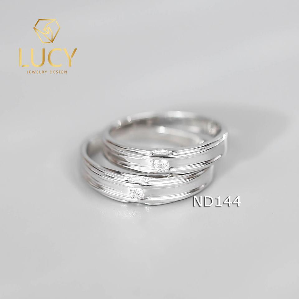 Nhẫn đôi nhẫn cặp bạc Lucy - ND144