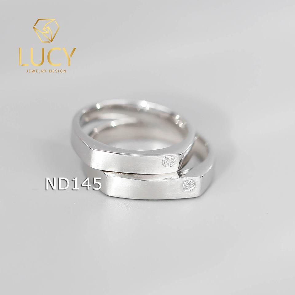 Nhẫn đôi nhẫn cặp bạc Lucy - ND145