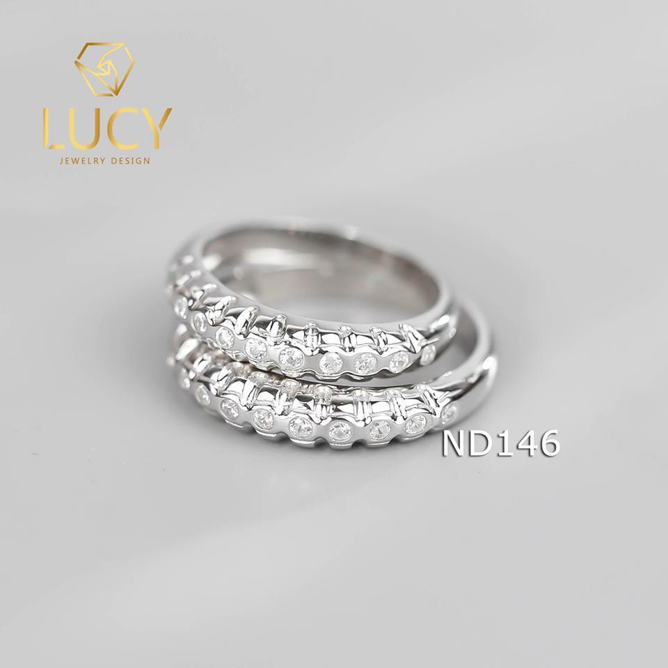 Nhẫn đôi nhẫn cặp bạc Lucy - ND146