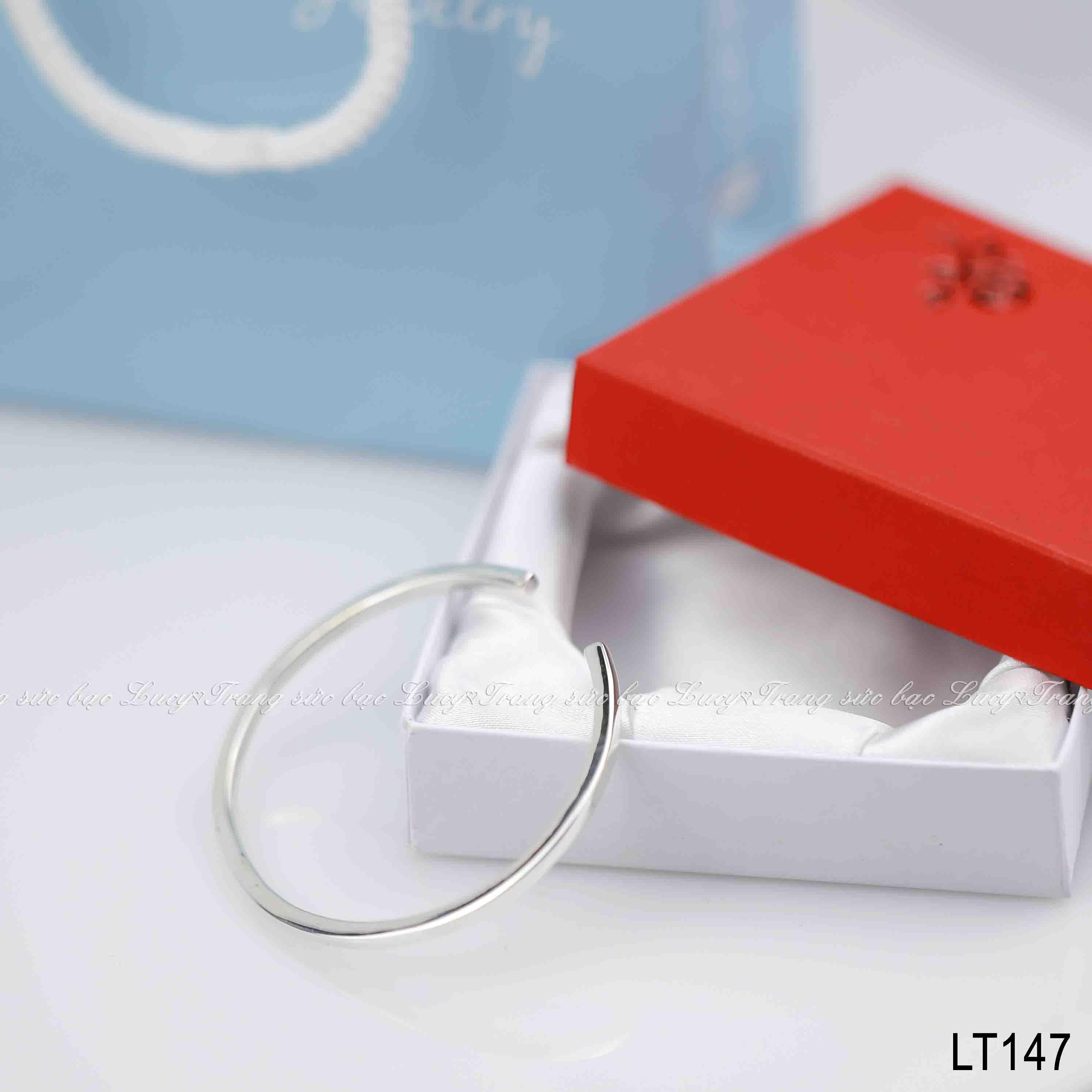 Lắc tay cuff thân vuông bản 3mm bạc lucy - LT147