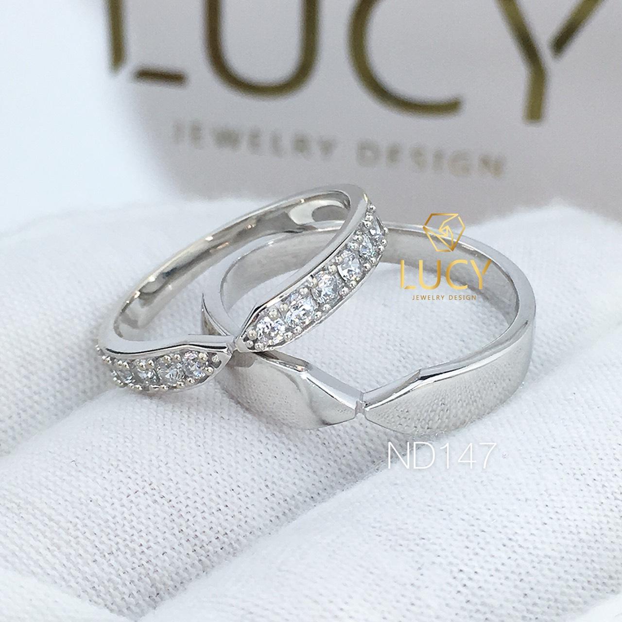 Nhẫn đôi nhẫn cặp bạc Lucy - ND147