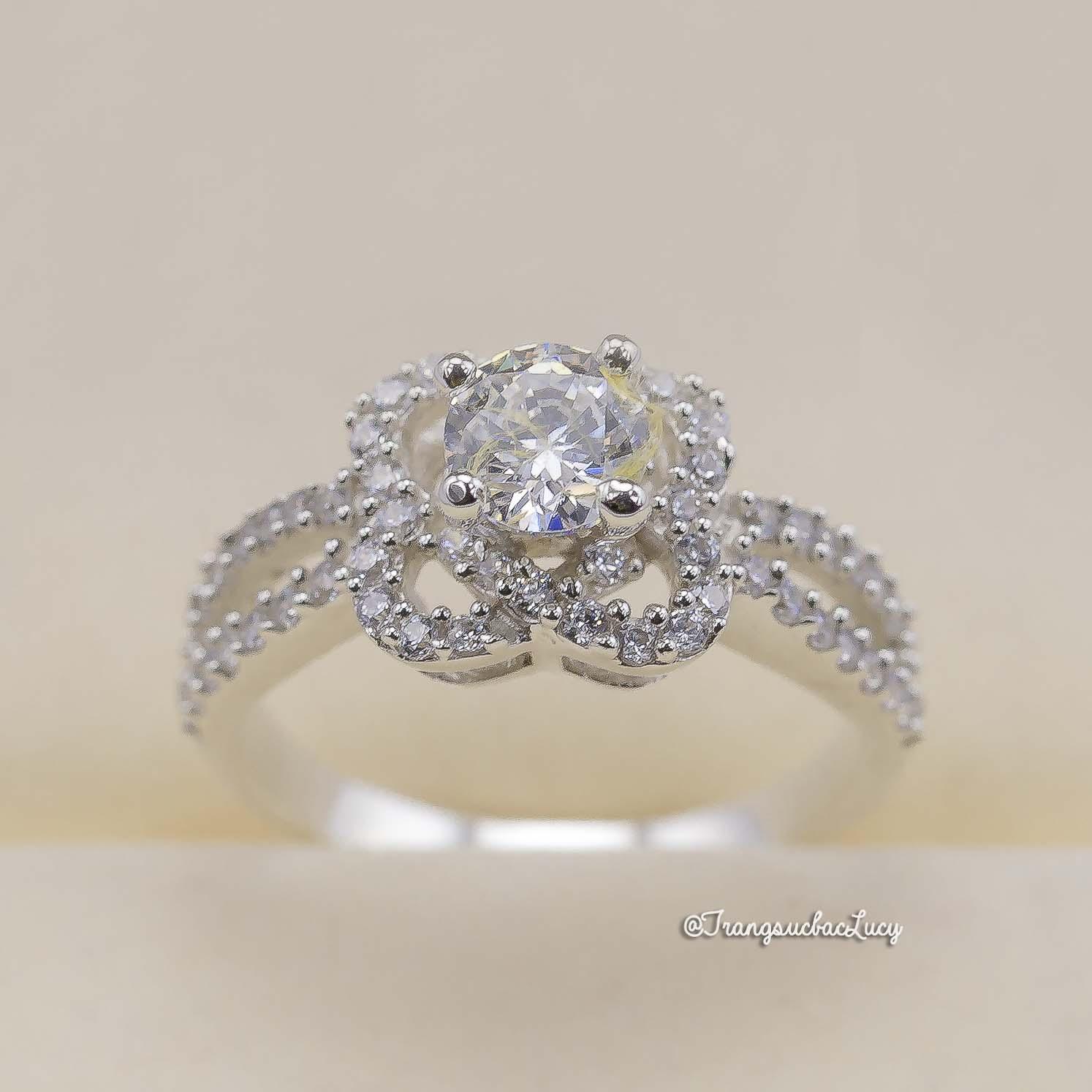 Nhẫn bạc nữ đẹp - RW212