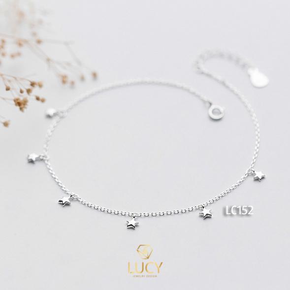 LẮC CHÂN NGÔI SAO NHỎ, BẠC Ý 925 XI VÀNG TRẮNG - LC152
