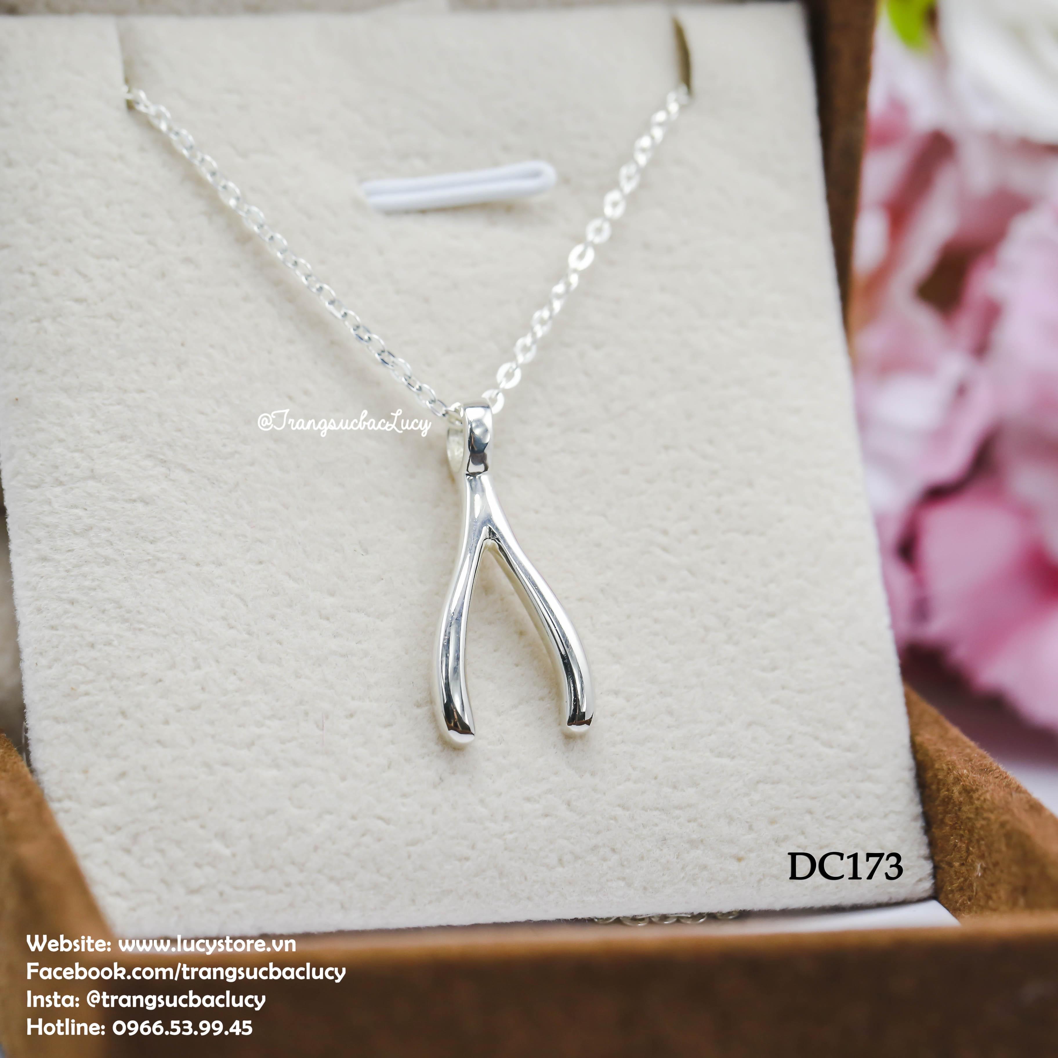 Dây chuyền bạc mặt biểu tượng wishbone - DC173 (hàng order)