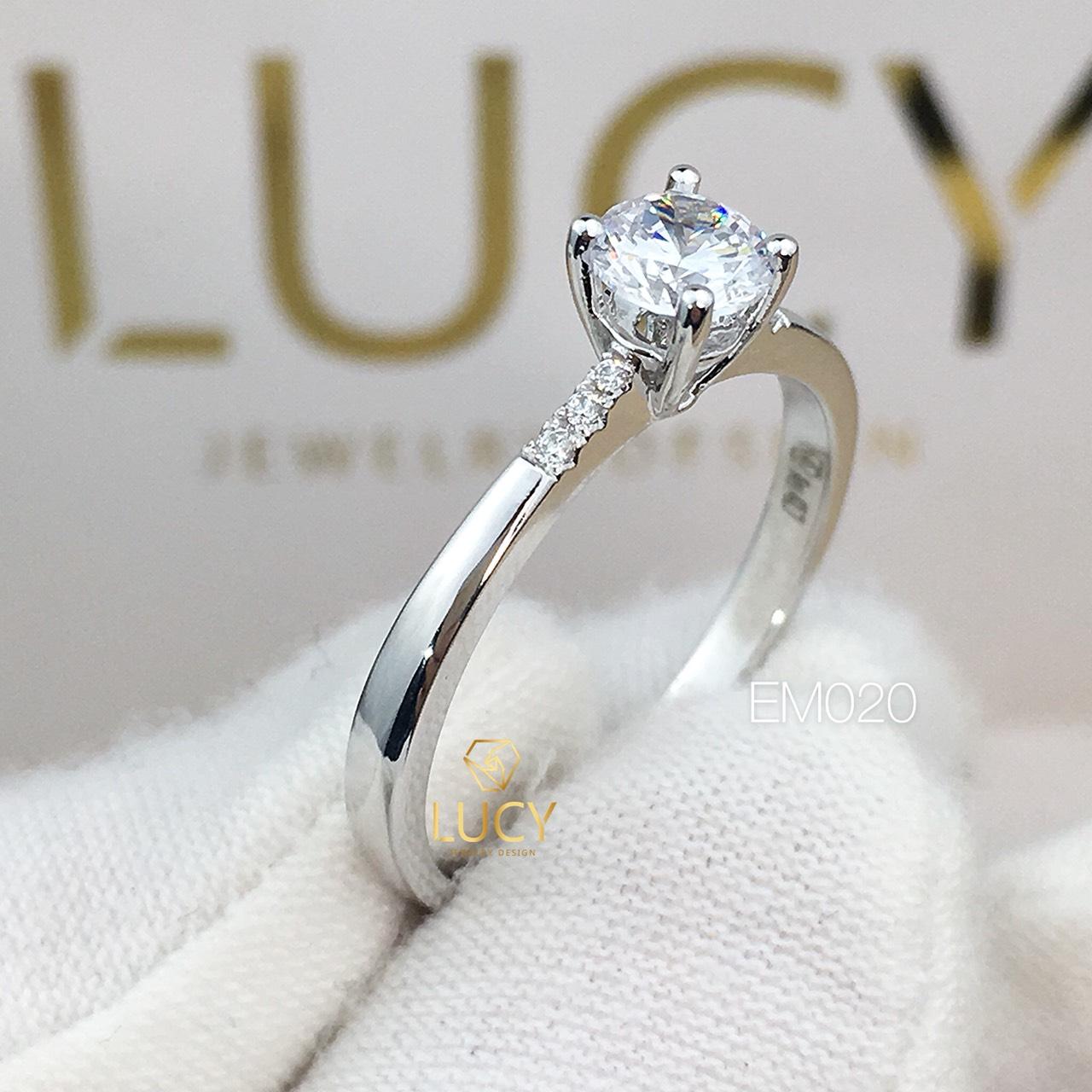 EM020 Nhẫn nữ ổ cao, nhẫn vàng, nhẫn thiết kế, nhẫn cầu hôn, nhẫn đính hôn - Lucy Jewelry