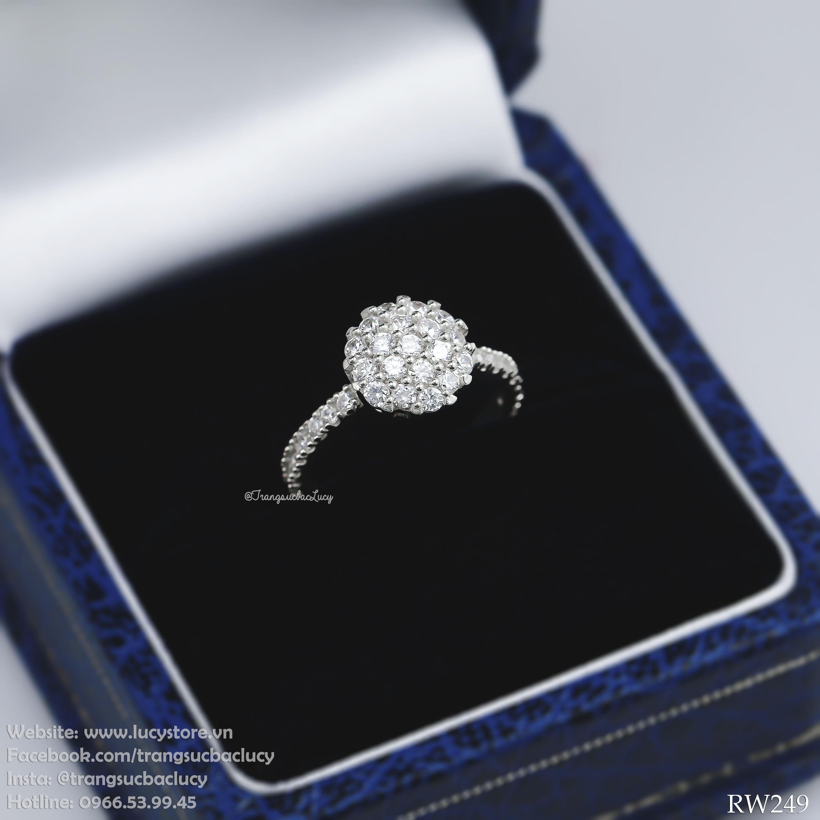 Nhẫn nữ bạc Lucy - RW249 (hàng order)