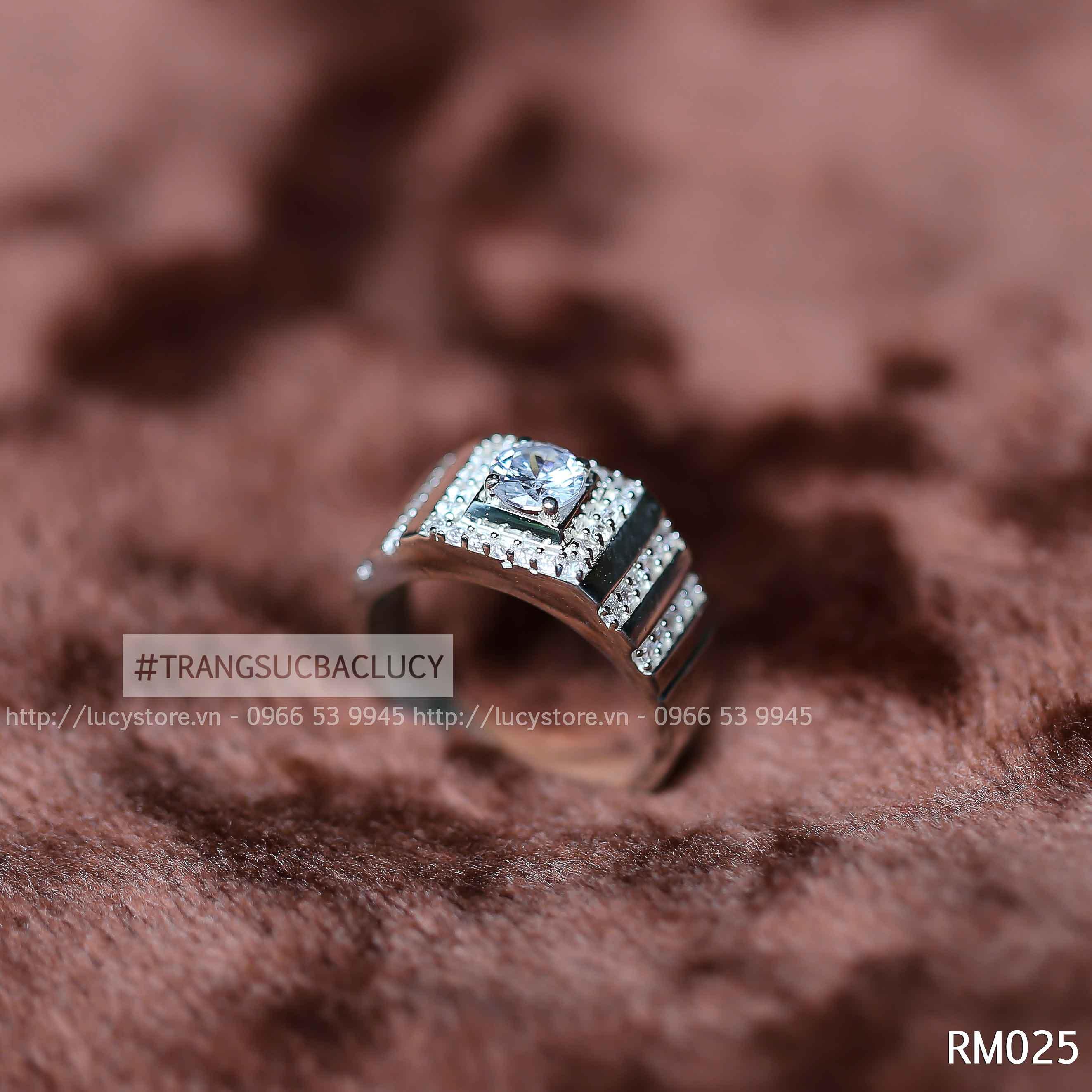 Nhẫn nam bạc Lucy - RM025