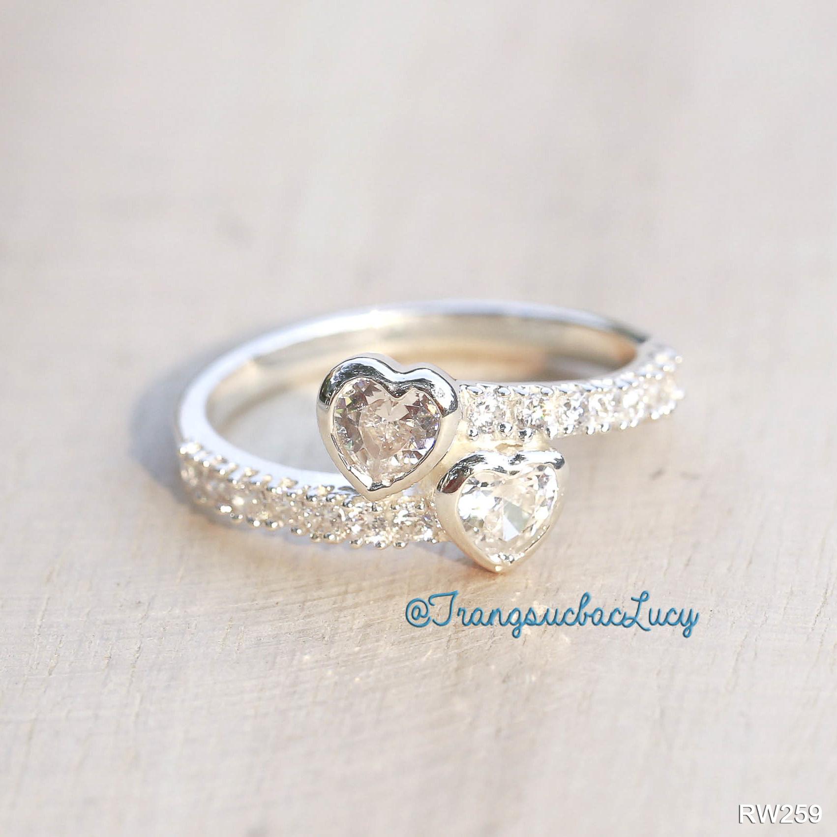 Nhẫn nữ bạc lucy - rw259