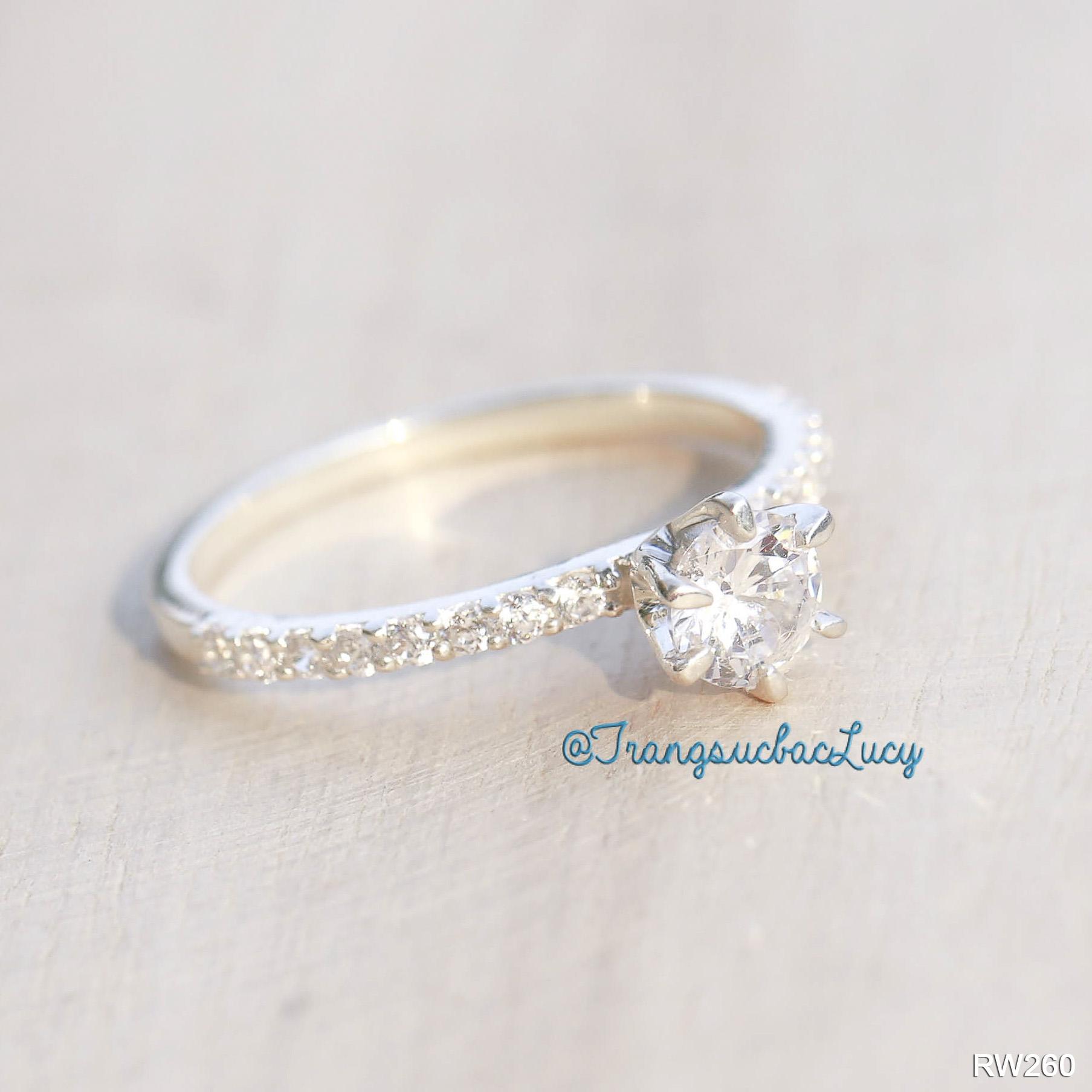 Nhẫn nữ đá cao bạc lucy - rw260