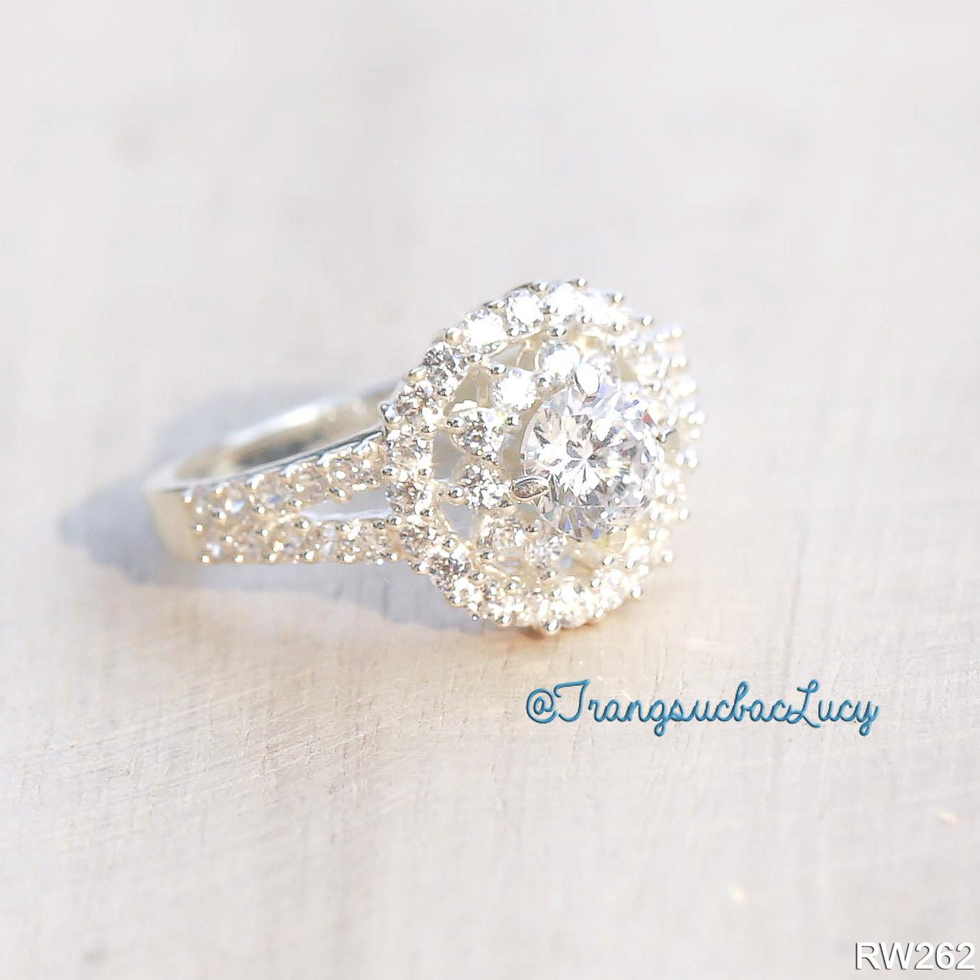 Nhẫn nữ đá cao bạc lucy - rw262 (hàng order)