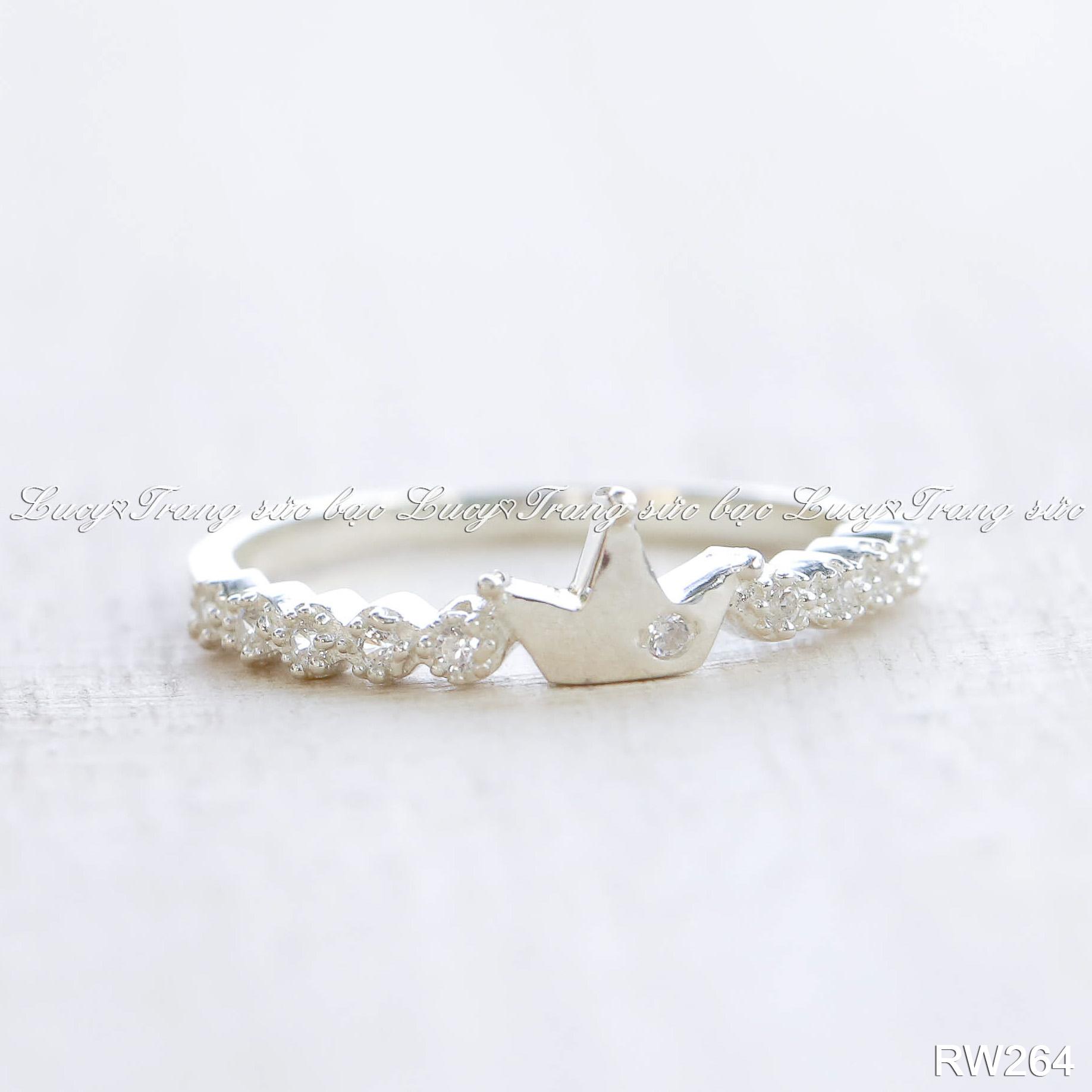 nhẫn nữ bạc lucy - rw264