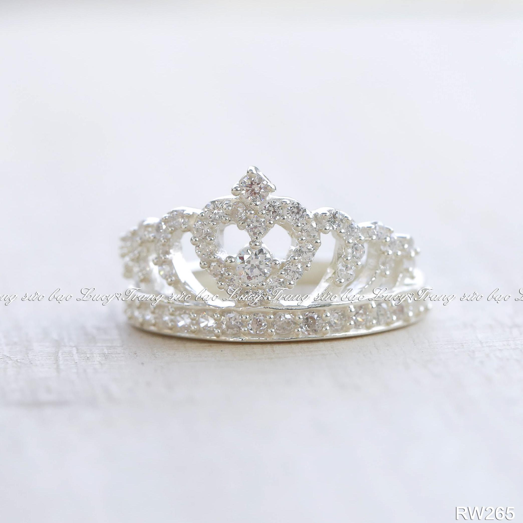 Nhẫn vương miện bạc lucy - rw265