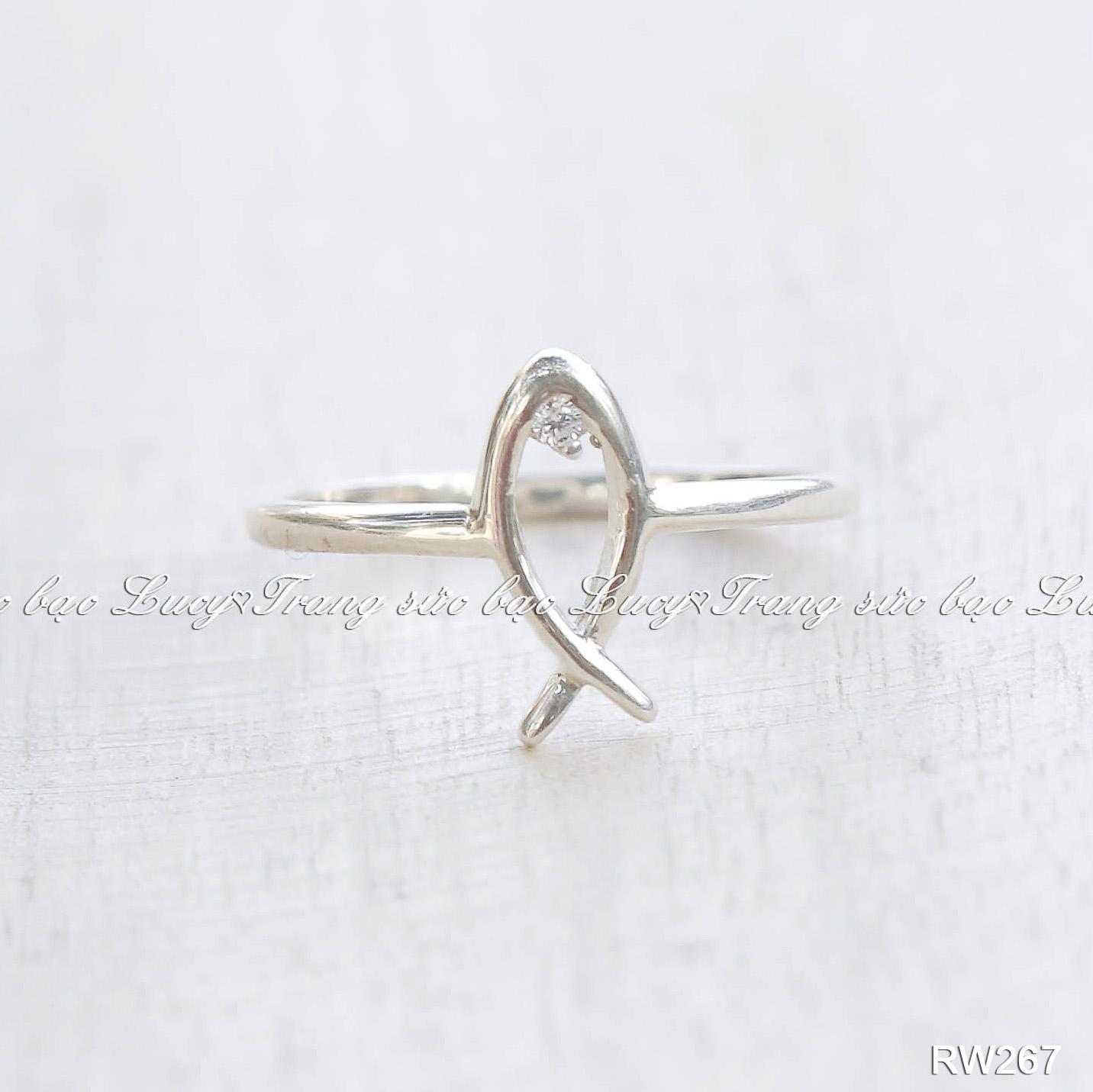 Nhẫn cá bạc lucy - rw267
