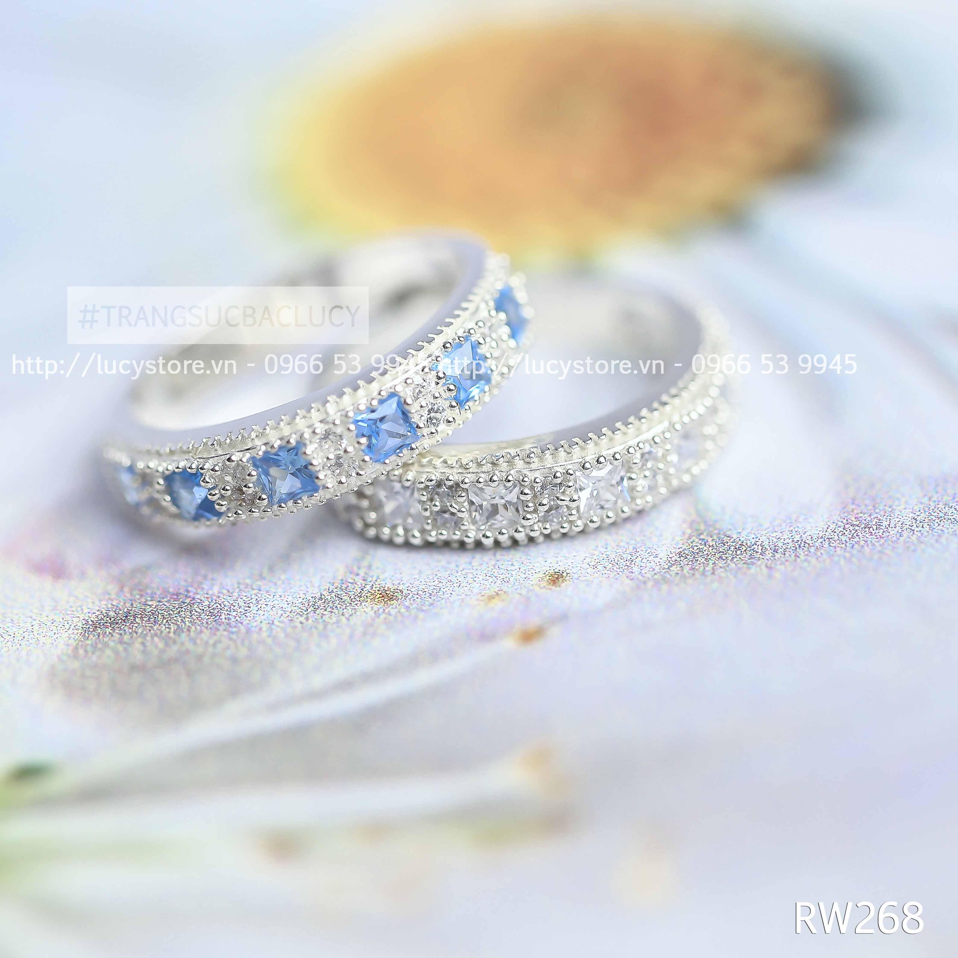 Nhẫn nữ bạc LUCY - RW268