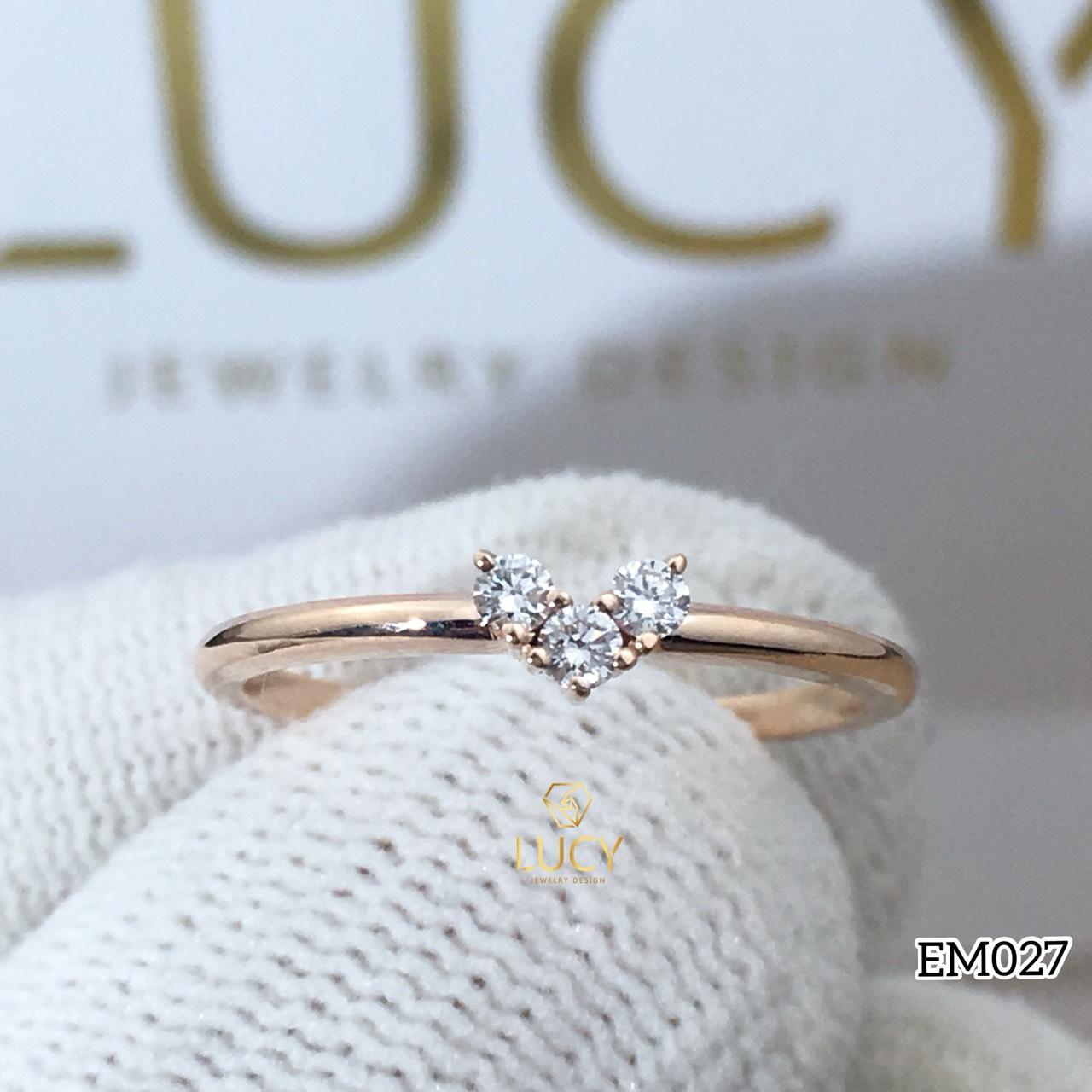 EM027 Nhẫn nữ, nhẫn vàng, nhẫn thiết kế, nhẫn cầu hôn, nhẫn đính hôn - Lucy Jewelry