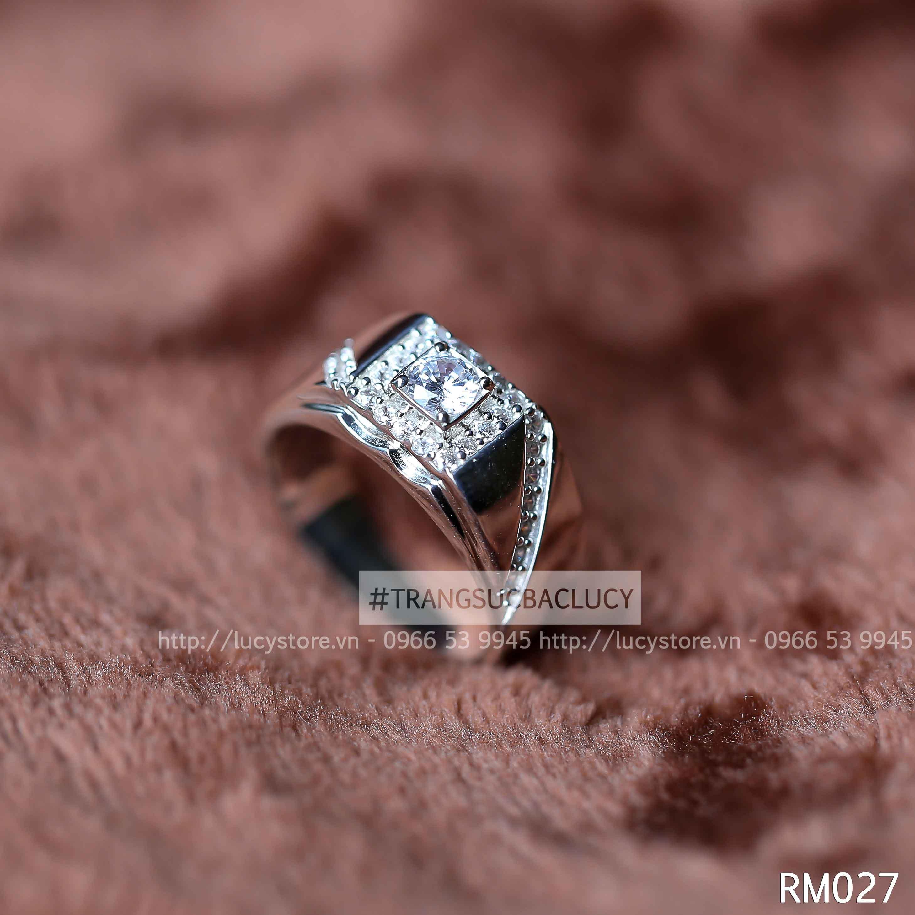 Nhẫn nam bạc Lucy - RM027