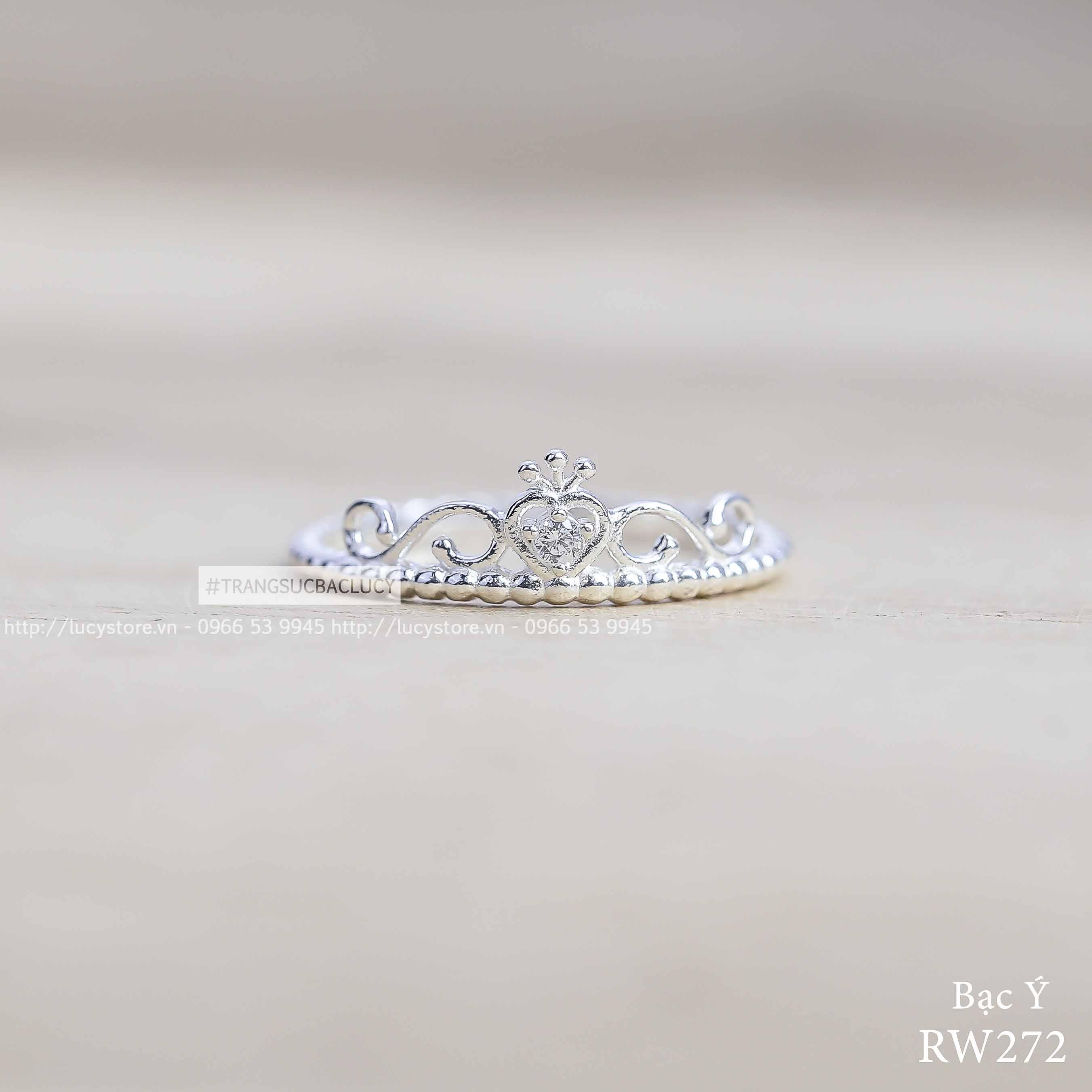 Nhẫn bạc Ý - RW272