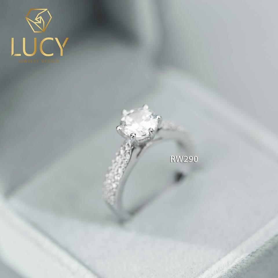 Nhẫn nữ bạc đẹp đá cao  - RW290