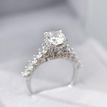 Nhẫn bạc đẹp đá caophong cách tiểu thư, bạc LUCY - RW291