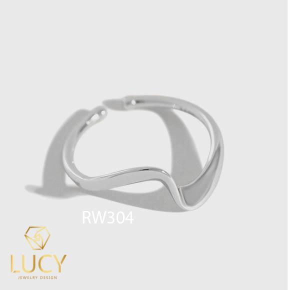 RW304 NHẪN CUFF BẠC Ý 925,XI VÀNG TRẮNG