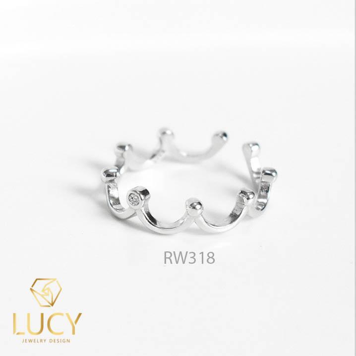 RW318 NHẪN CUFF BẠC Ý 925, XI VÀNG TRẮNG