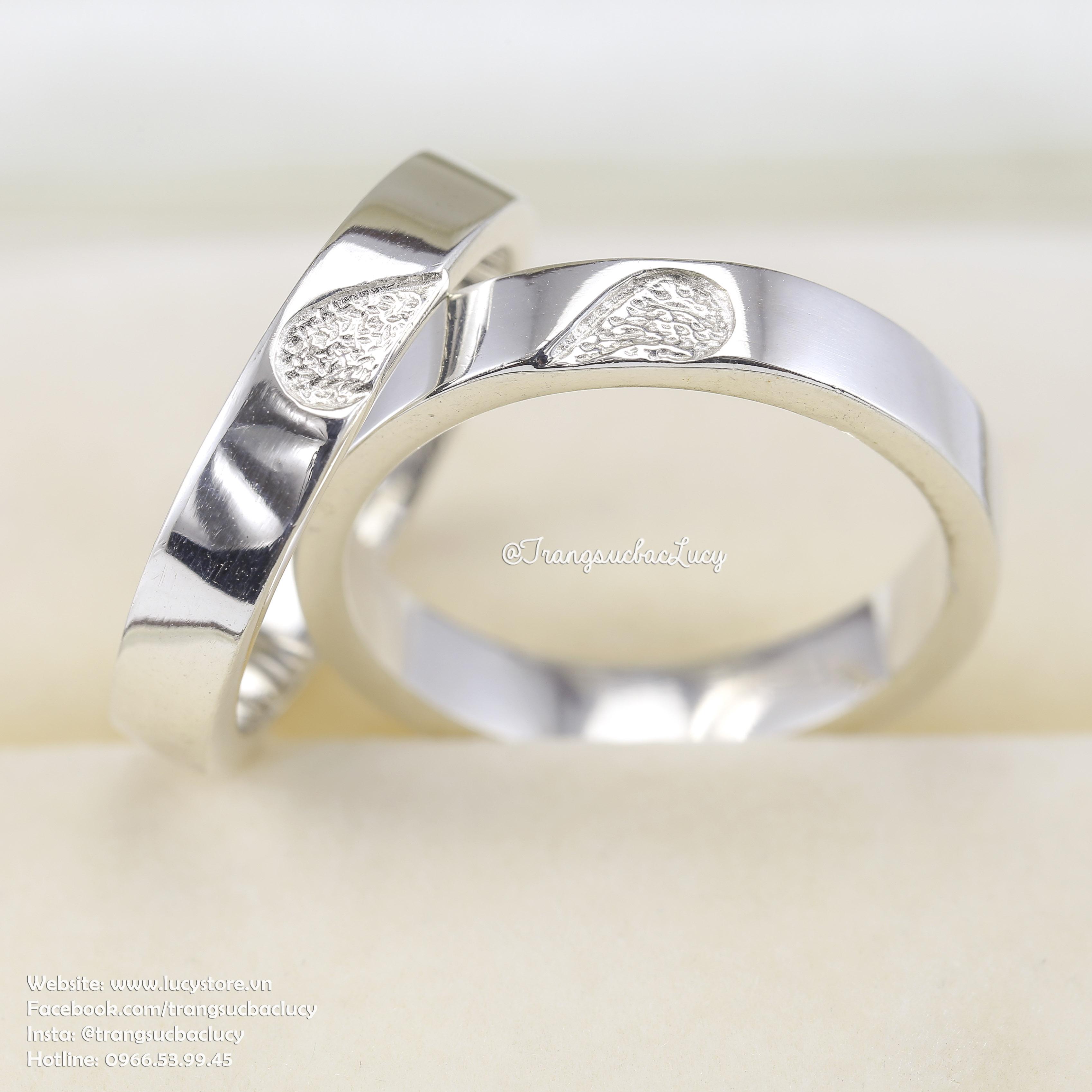 Nhẫn đôi nhẫn cặp bạc Lucy -  ND028