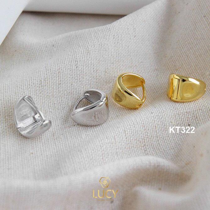 KT322 khuyên tại bạc ý xi vàng trắng