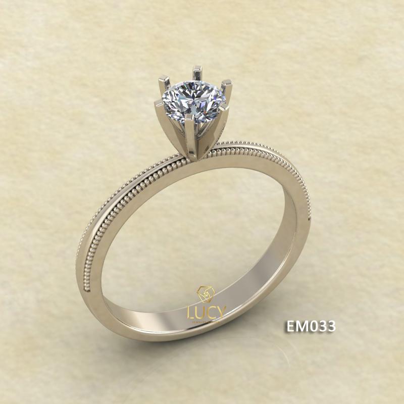 EM033 Nhẫn nữ ổ cao, nhẫn vàng, nhẫn thiết kế, nhẫn cầu hôn, nhẫn đính hôn - Lucy Jewelry