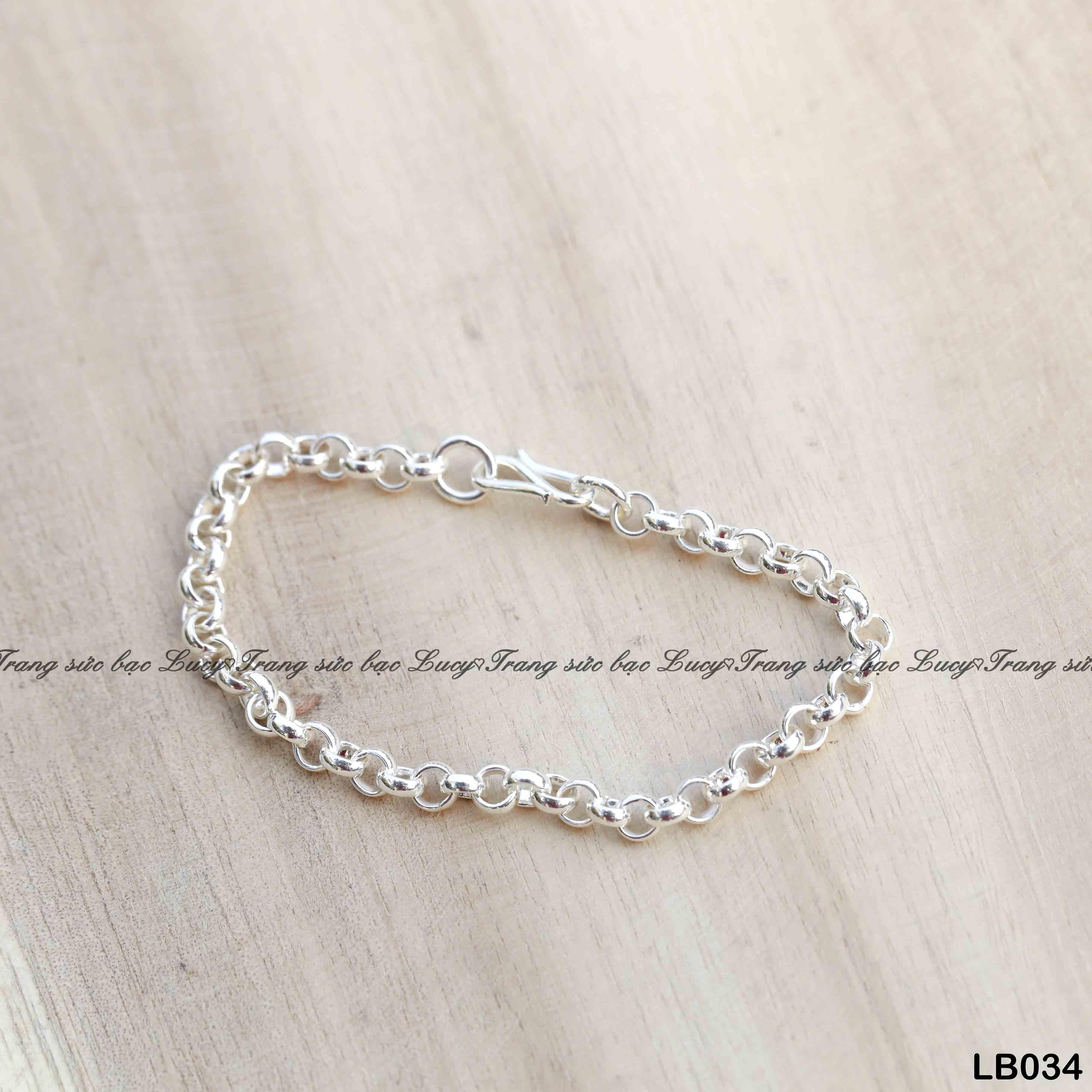 Lắc bạc ta cho bé mắt mo - LB034