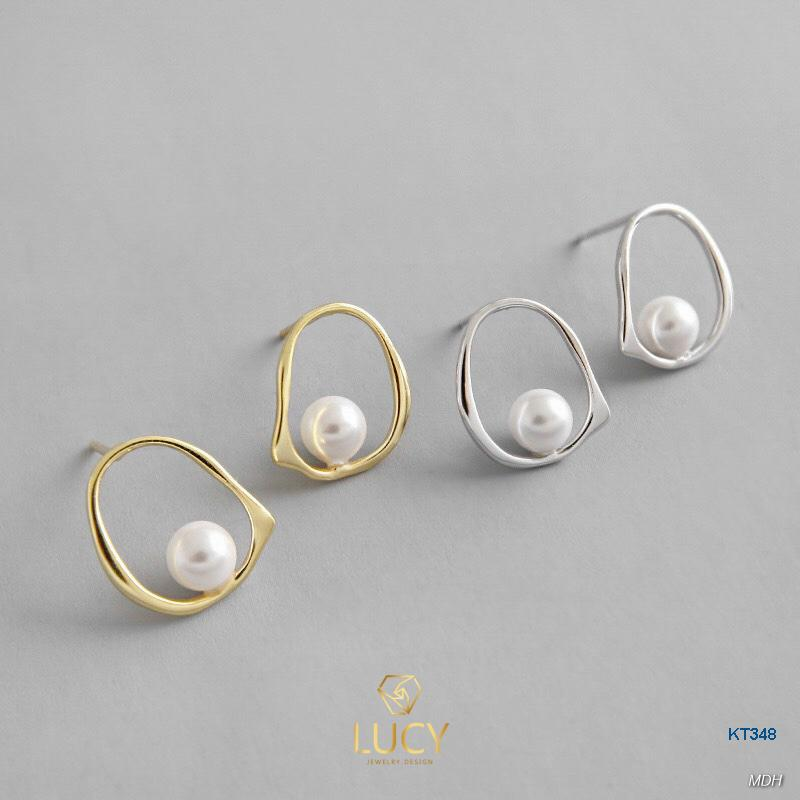 KT348 Khuyên tai bạc Ý - LUCYJEWELRY
