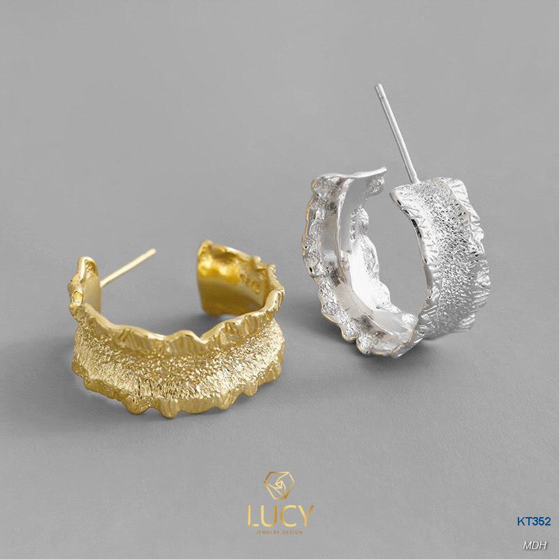 KT352 Khuyên tai bạc Ý - LUCYJEWELRY