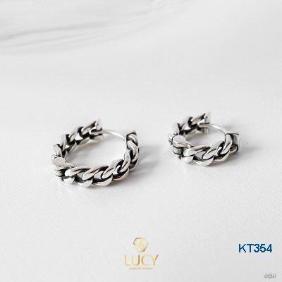KT354 Khuyên tai bạc Ý 925 - LUCYJEWELRY