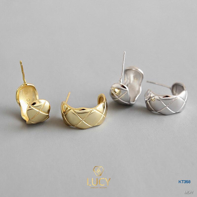 KT358 Khuyên tai bạc Ý - LUCYJEWELRY