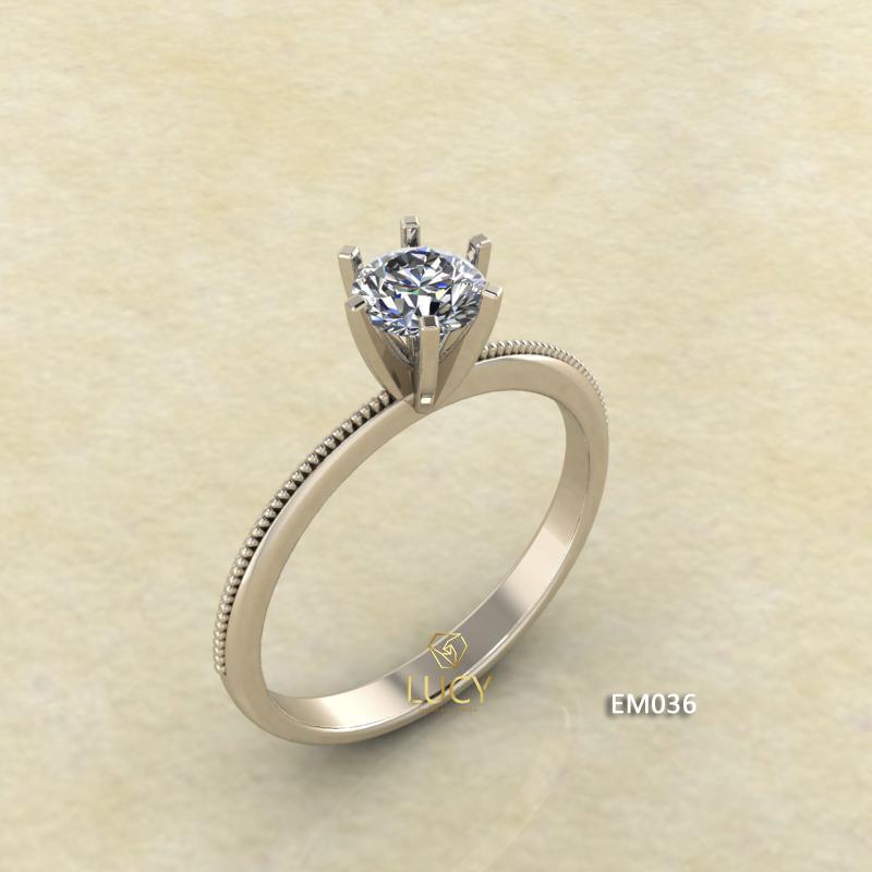 EM036 Nhẫn nữ ổ cao, nhẫn vàng, nhẫn thiết kế, nhẫn cầu hôn, nhẫn đính hôn - Lucy Jewelry