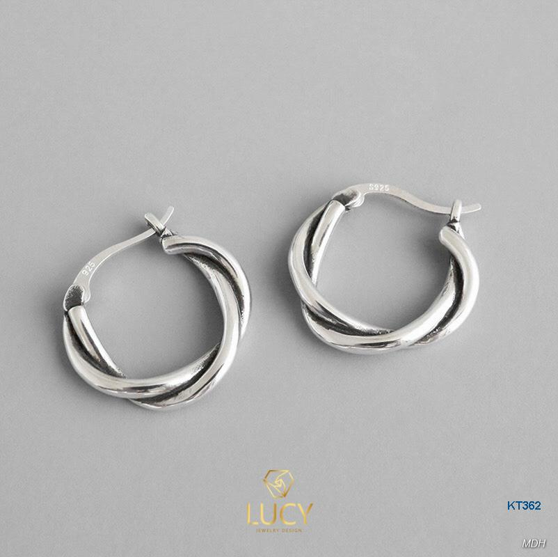 KT362 Khuyên tai bạc Ý 925 - LUCYJEWELRY