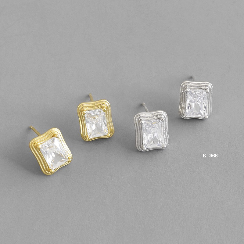 KT366 Khuyên tai bạc Ý 925 - LUCYJEWELRY