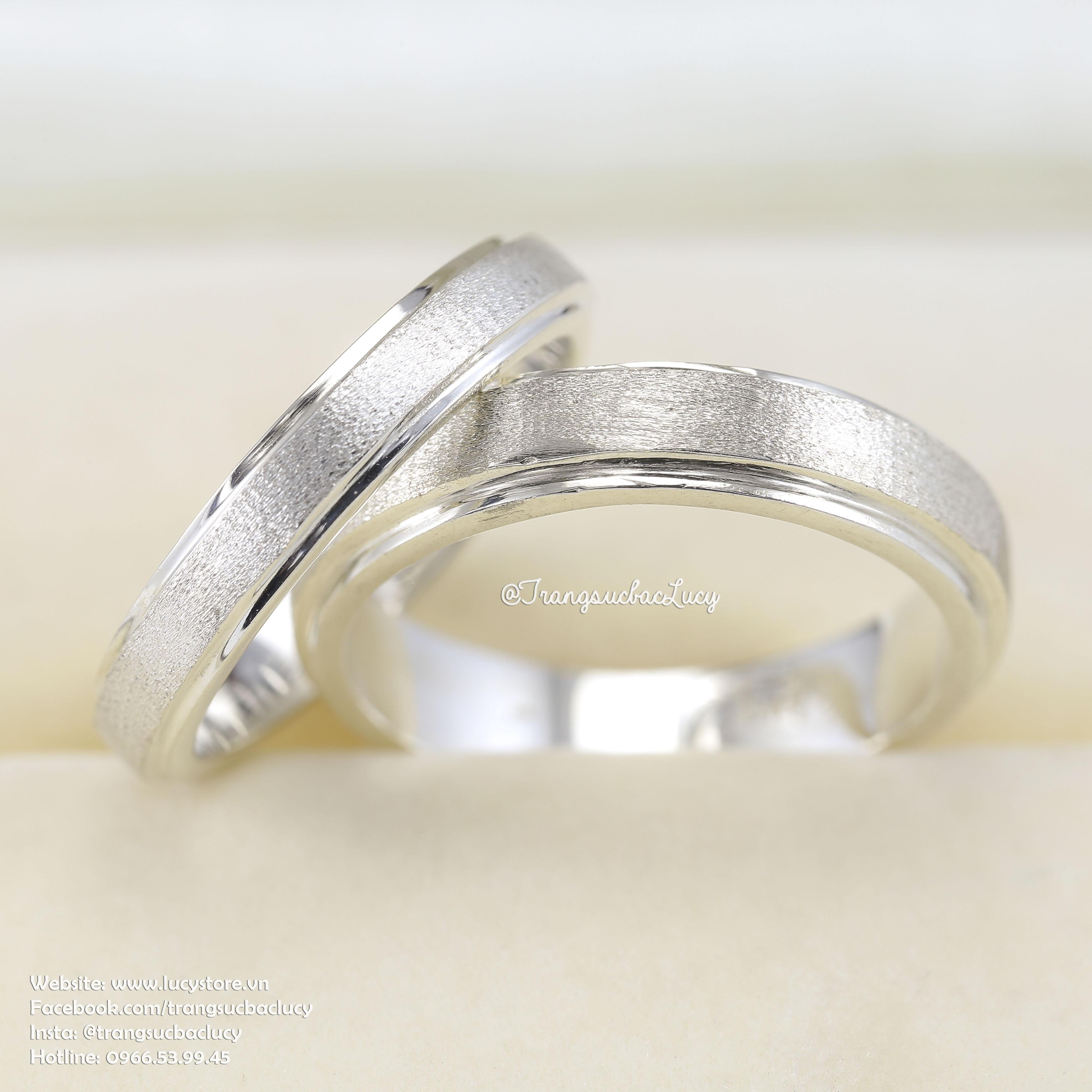 Nhẫn đôi nhẫn cặp bạc Lucy - ND027